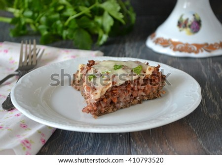 Beef Rice Pie  / Meat Pie