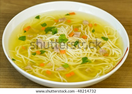 beef soup - stock photo