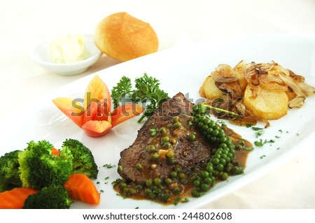 beef steak - stock photo