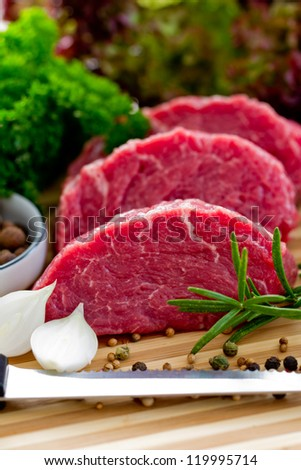 Beef, steak meat - barbecue, grill - stock photo