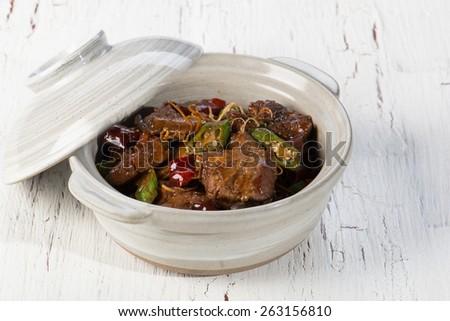 Beef stewed - stock photo