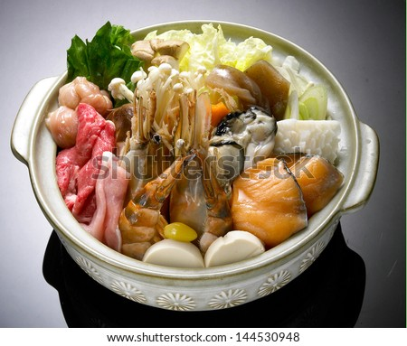 Beef Sukiyaki , Japanese Food chabu chabu - stock photo
