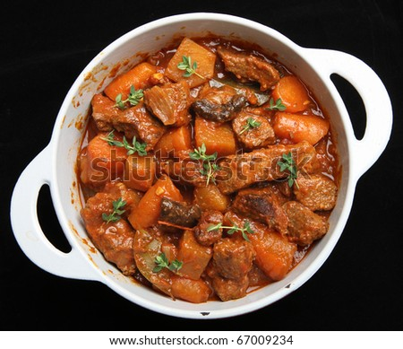 Beef & vegetable stew.