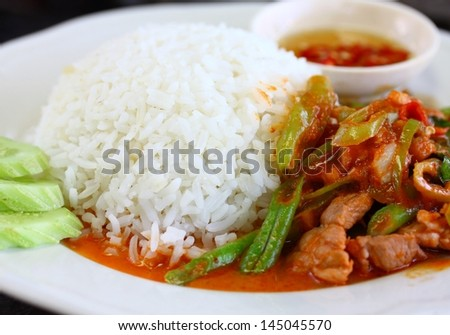 Beef with Green Beans - stock photo