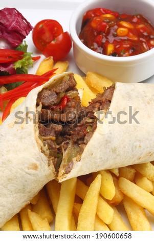 Beef Wrap - stock photo