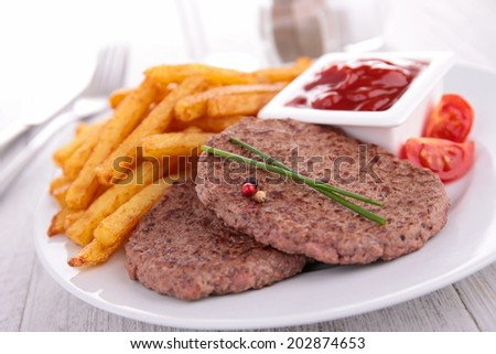 beefsteak and fries