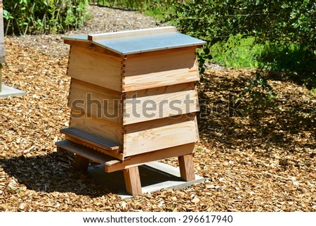 Beehive in a country estate in the UK - stock photo