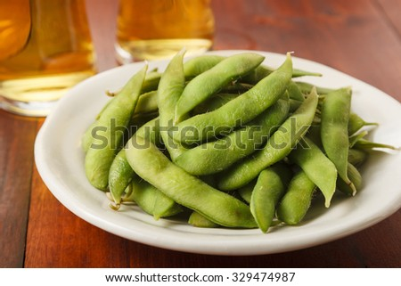Beer and Green soy beans?
