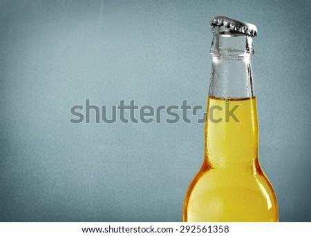 Beer Bottle, Beer, Bottle. - stock photo