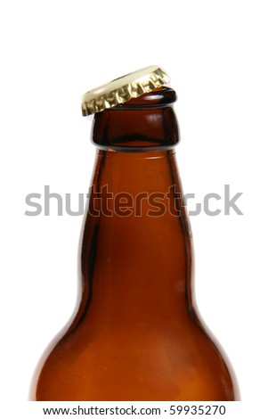 beer bottle isolated on white - stock photo