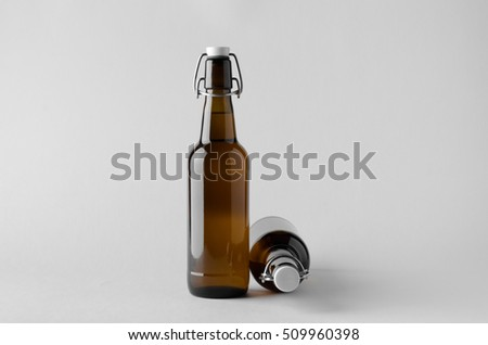Beer Bottle Mock-Up - Two Bottles