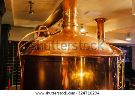 beer brewery - stock photo