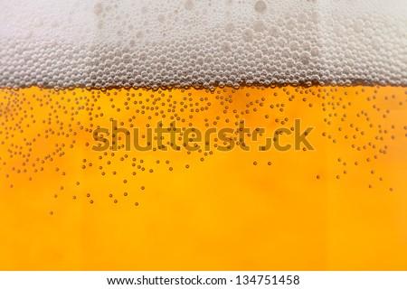beer bubbles closeup full frame closeup - stock photo