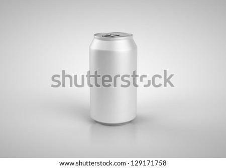 beer can isolated on white background