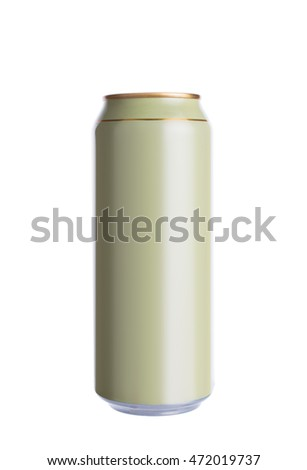 Beer can isolated on white background.