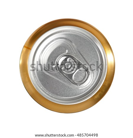 Beer can, top view