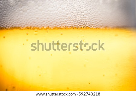 Beer close up background