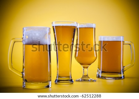Beer collection, glass beer