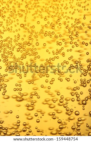 Beer collection: Macro view of beer bubbles. - stock photo