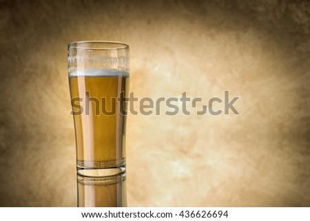 Beer glass ,3d rendering - stock photo