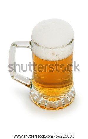 Beer glass isolated on the white background