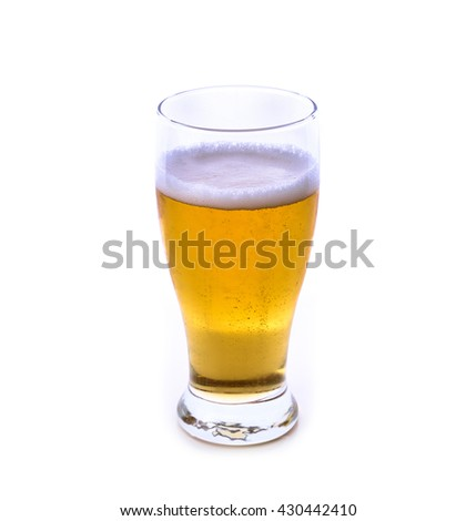 Beer glass isolated on white background .