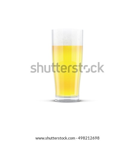 Beer Glass Mock-Up on white background 3D illustration