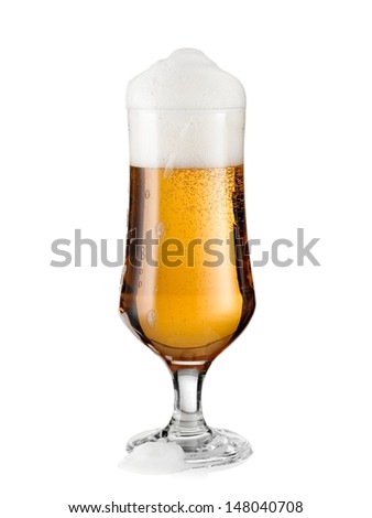 Beer glass with froth