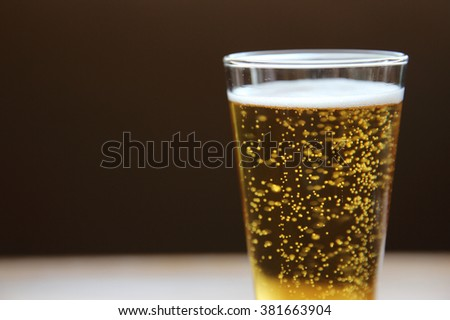 beer in close up