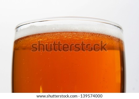 beer in glass - stock photo