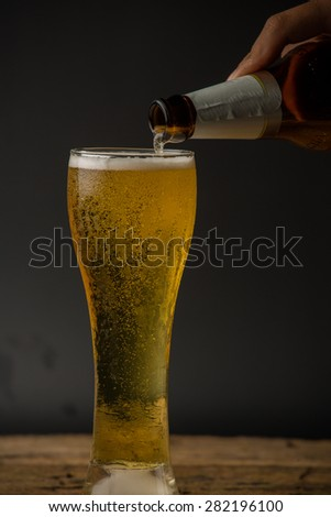 Beer into glass