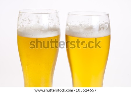 Beer isolated on white background