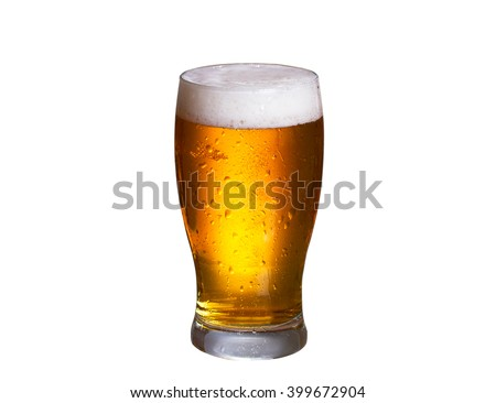 Beer isolated on white background - stock photo