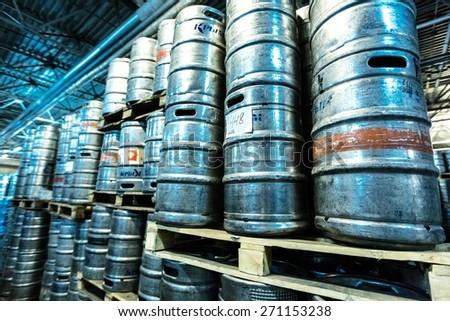 Beer, Keg, Brewery. - stock photo