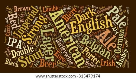 Beer lovers word cloud typography design. - stock photo