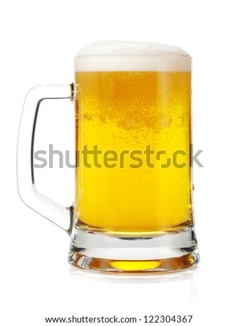 Beer mug. Isolated on white background