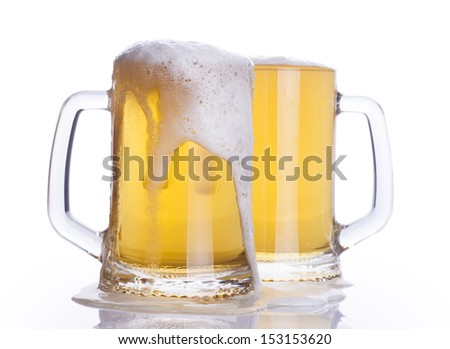 Beer mugs - stock photo