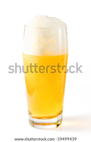 Beer on white background - stock photo