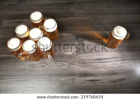 Beer pitchers - stock photo