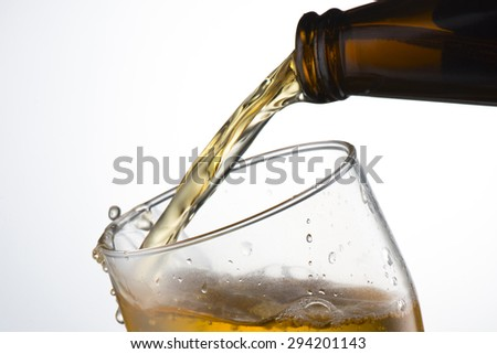 Beer Pour from Bottle to Glass