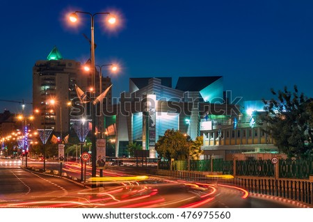 BEER-SHEVA, ISRAEL- MAY 25, 2014: City center at night.