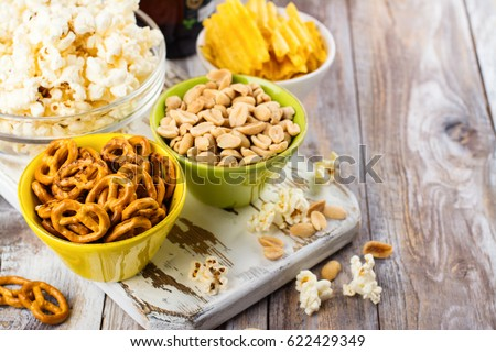 beer snacks on wooden table nuts stock photo edit now 622429349