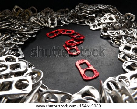 Beer tabs question mark - stock photo