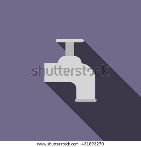 Beer tap icon, flat style - stock photo