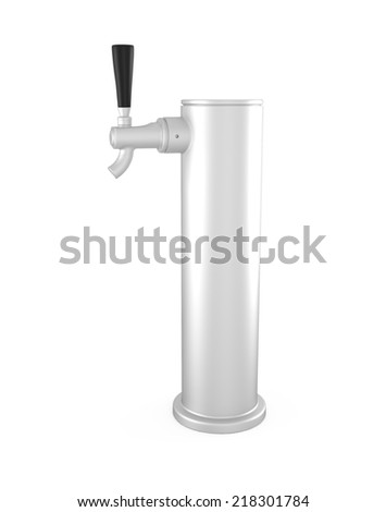 Beer Tap isolated on white - 3d illustration - stock photo
