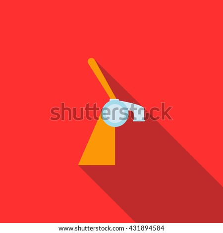 Beer tap used in bar icon, flat style - stock photo