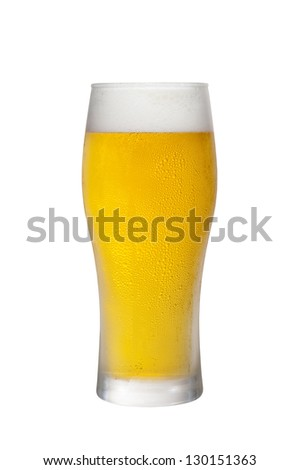 Beer went into the glass