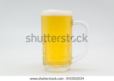 Beer white on background