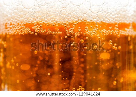 beer with bubbles - stock photo