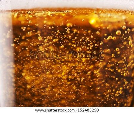 beer with bubbles close up background - stock photo